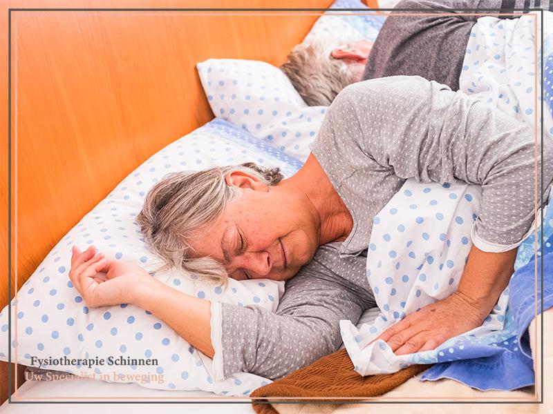 Slaapstoornis, slaapproblemen, slapeloosheid, inslapen, uitslapen, doorslapen, slaapoefentherapie, slapen, slaap, vermoeidheid, vermoeidheidsklachten, slaperigheid, wakker, bioritme, bioritmeproblematiek, nachtmerries, rusteloze benen, concentratieproblemen, oefentherapie